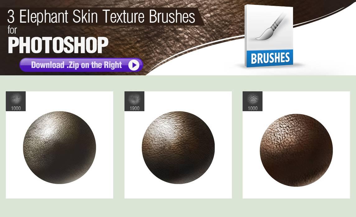 3种大象皮肤纹理、动物皮肤材质PS笔刷下载
