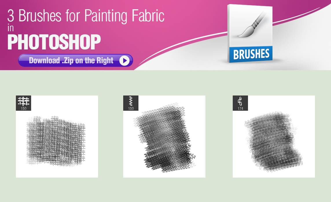 3种Photoshop绘制织物纹理材质笔刷素材