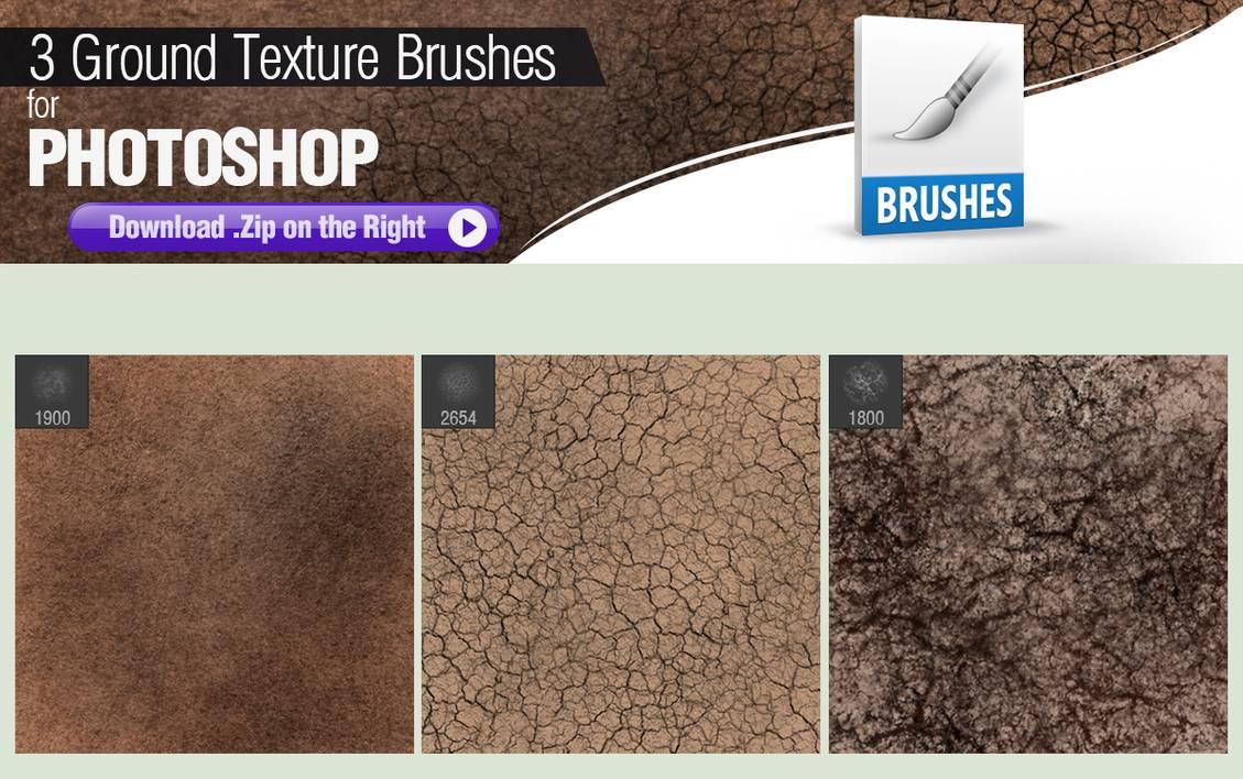 3种用于绘制地面纹理的Photoshop笔刷素材免费下载