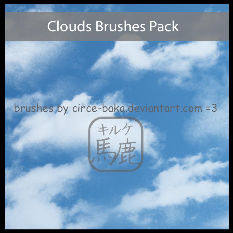天空中的白云、云朵云彩纹理PS笔刷素材