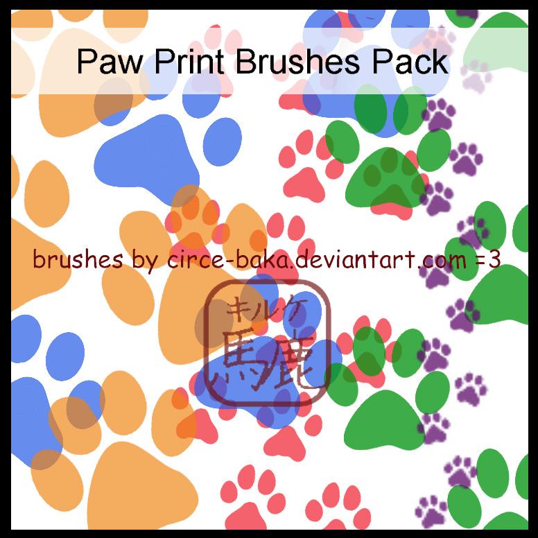 爪子、狗爪图案PS笔刷素材