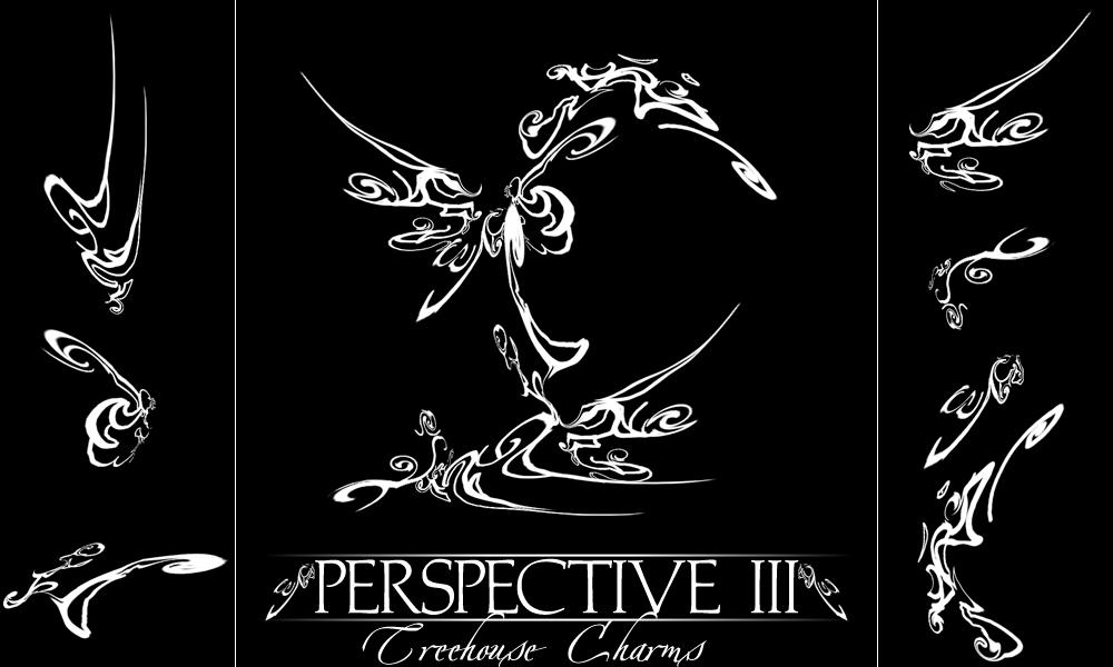 7种扭曲的透视风格的PS花纹线条笔刷