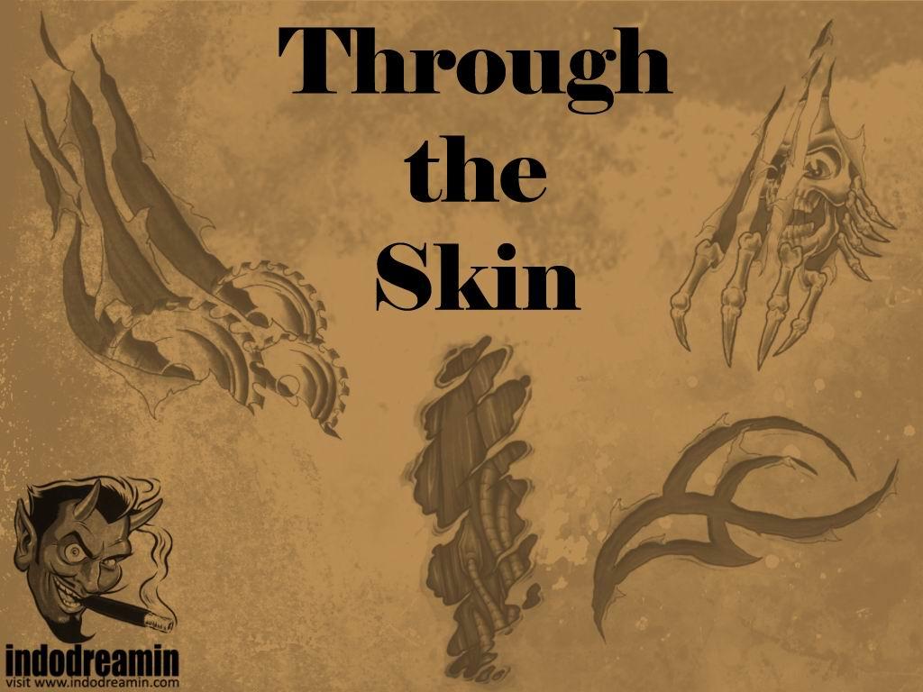 皮肤上的纹身刺青、不良纹身PS笔刷下载