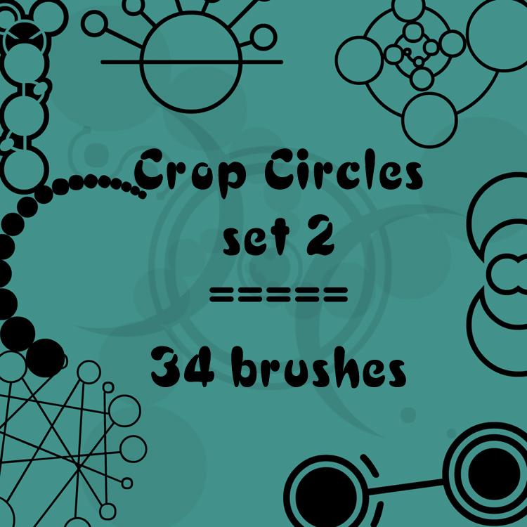 34种圆圈组合图形符号PS笔刷下载