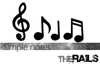 音乐元素、音符图案PS笔刷下载