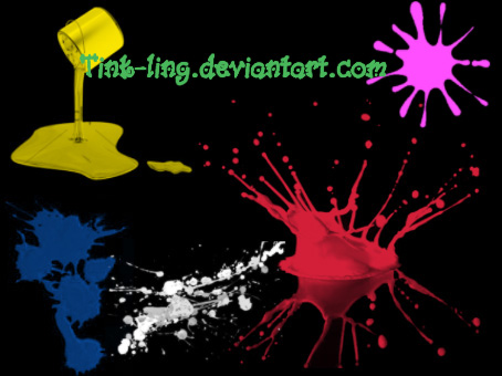 5种油漆相关刷子PS笔刷下载