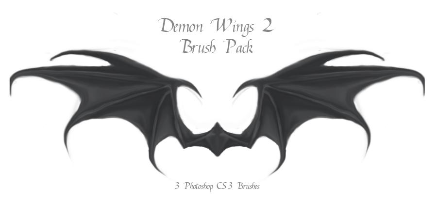 恶魔翅膀、蝙蝠羽翼Photoshop地狱魔鬼翅膀笔刷