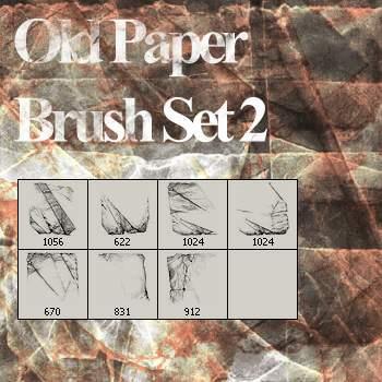 旧纸张纹理、纸张叠加材质PS笔刷下载