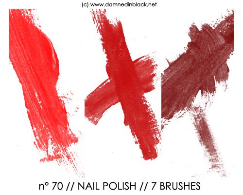 油漆刷子划痕、画笔涂痕PS笔刷下载