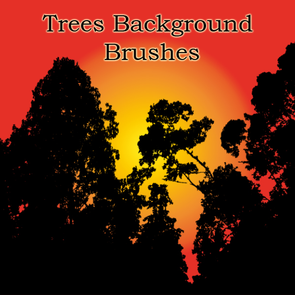 大树背景、树木阴影背景PS笔刷素材