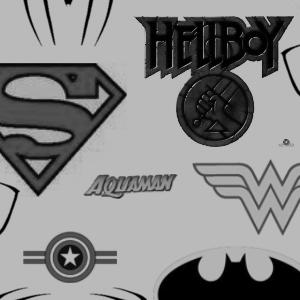 超人标志、英雄标志图案PS笔刷素材