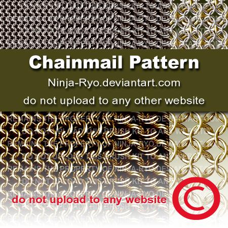 锁链、链甲纹理材质PS填充素材下载