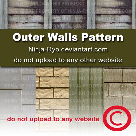 房屋外墙纹理、外企材质贴图PS笔刷填充素材免费下载