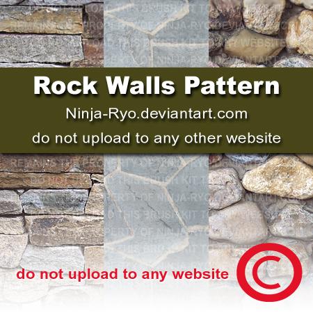 石墙、墙壁纹理PS填充素材免费下载