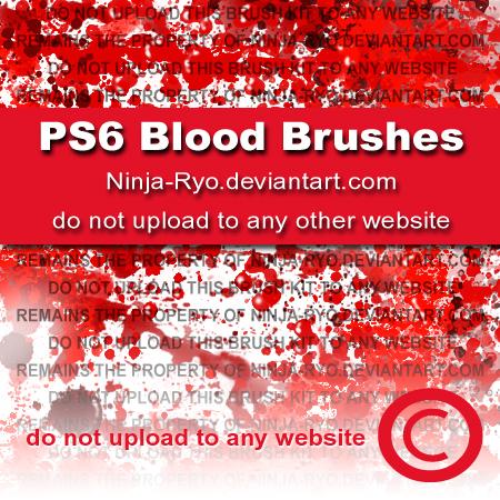 恐怖血液、流血痕迹Photoshop笔刷素材下载
