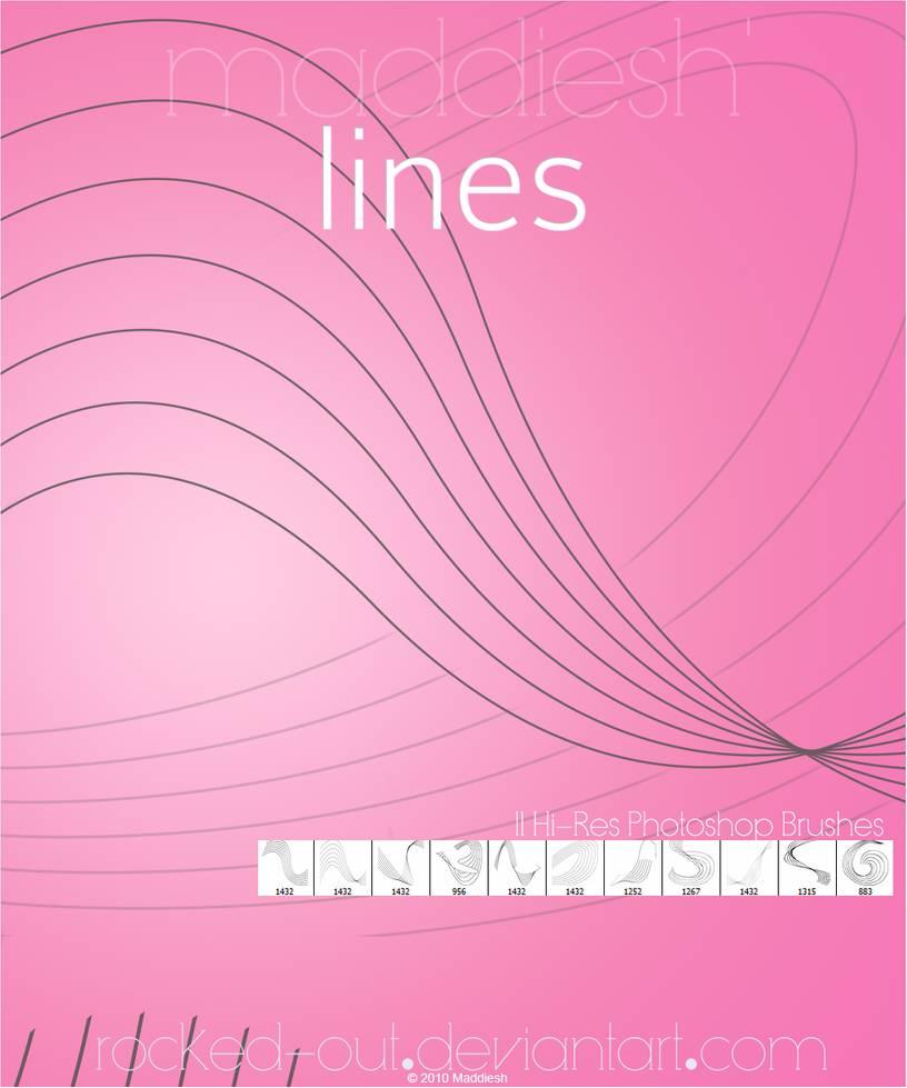 平行曲线线条纹理PS曲线笔刷