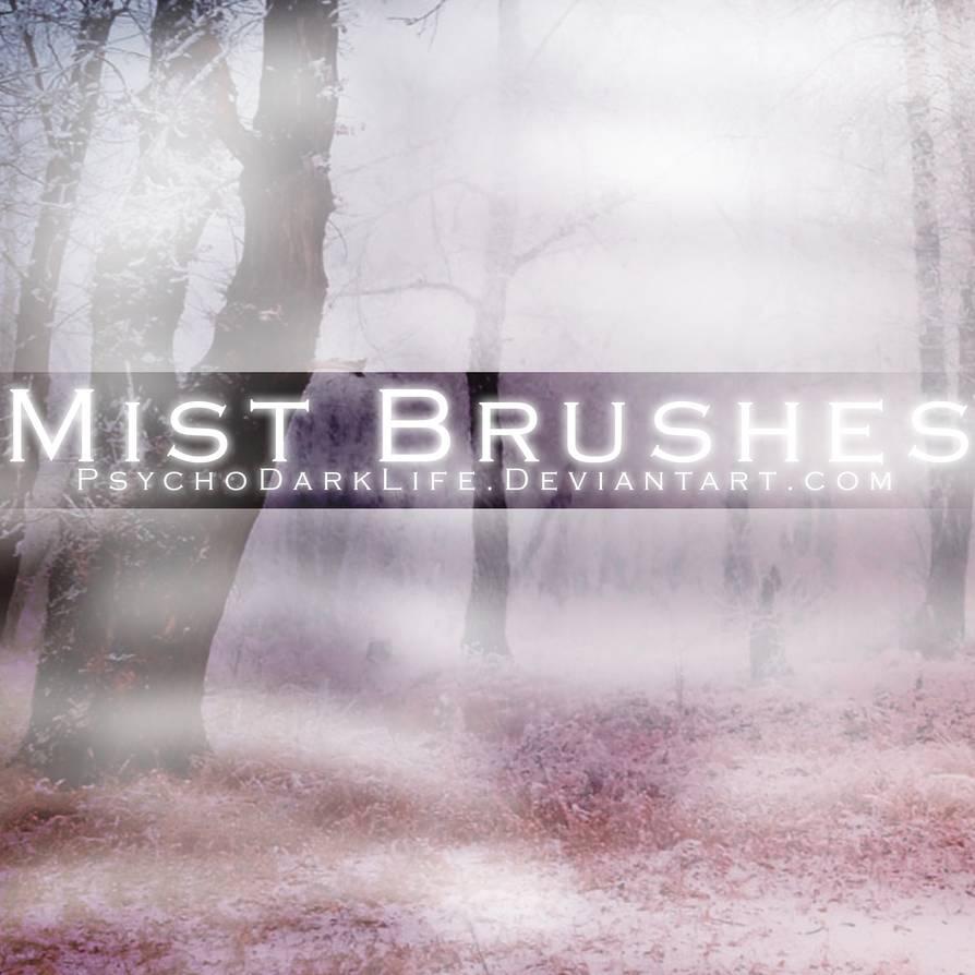 朦胧的薄雾、清晨浓雾、迷雾PS环境笔刷