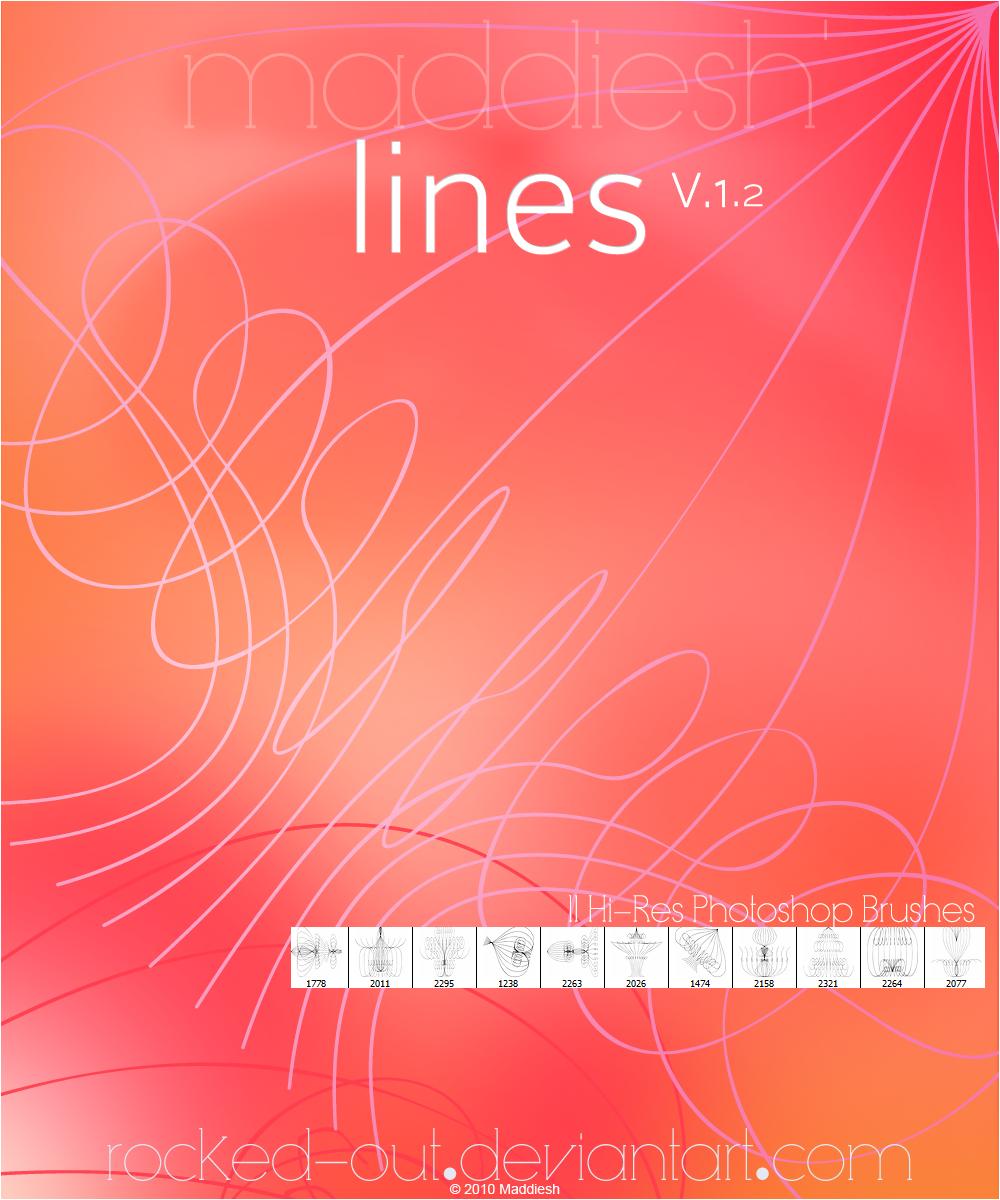 对称线条花纹图案PS线条印花笔刷