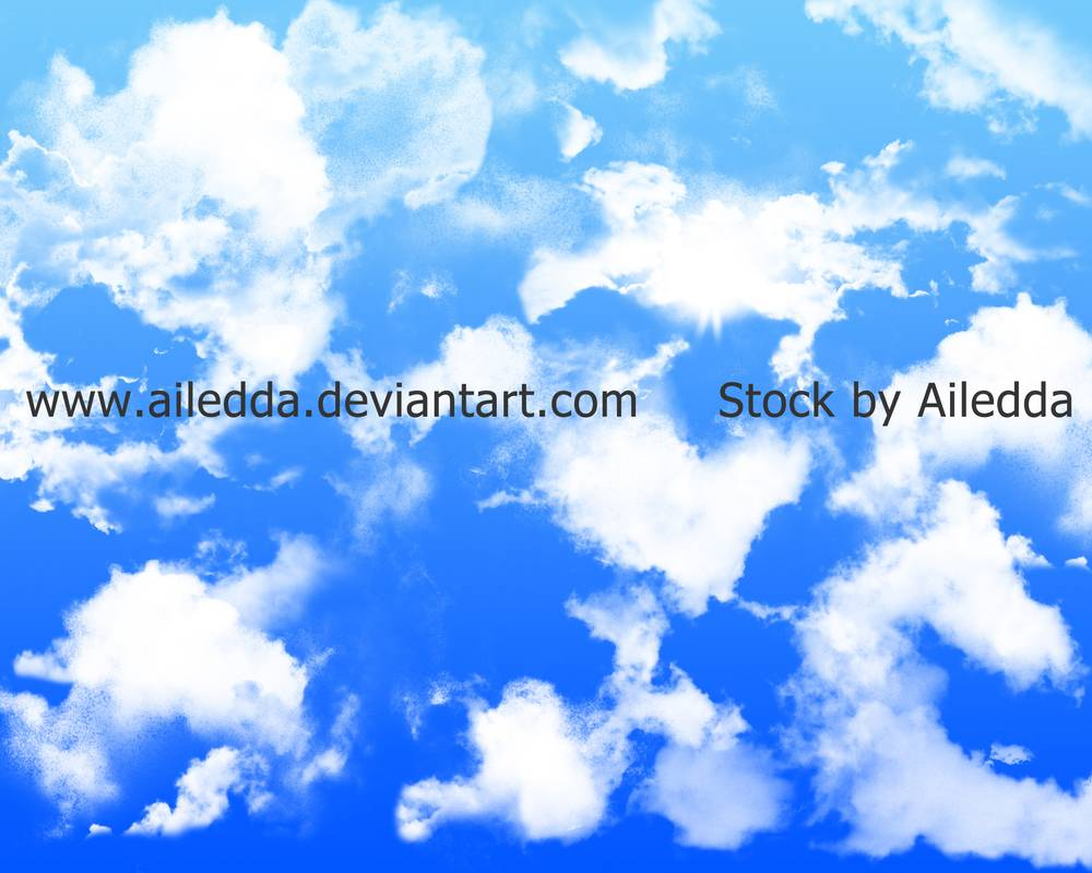 天空乌云、云朵云层纹理PS笔刷免费素材