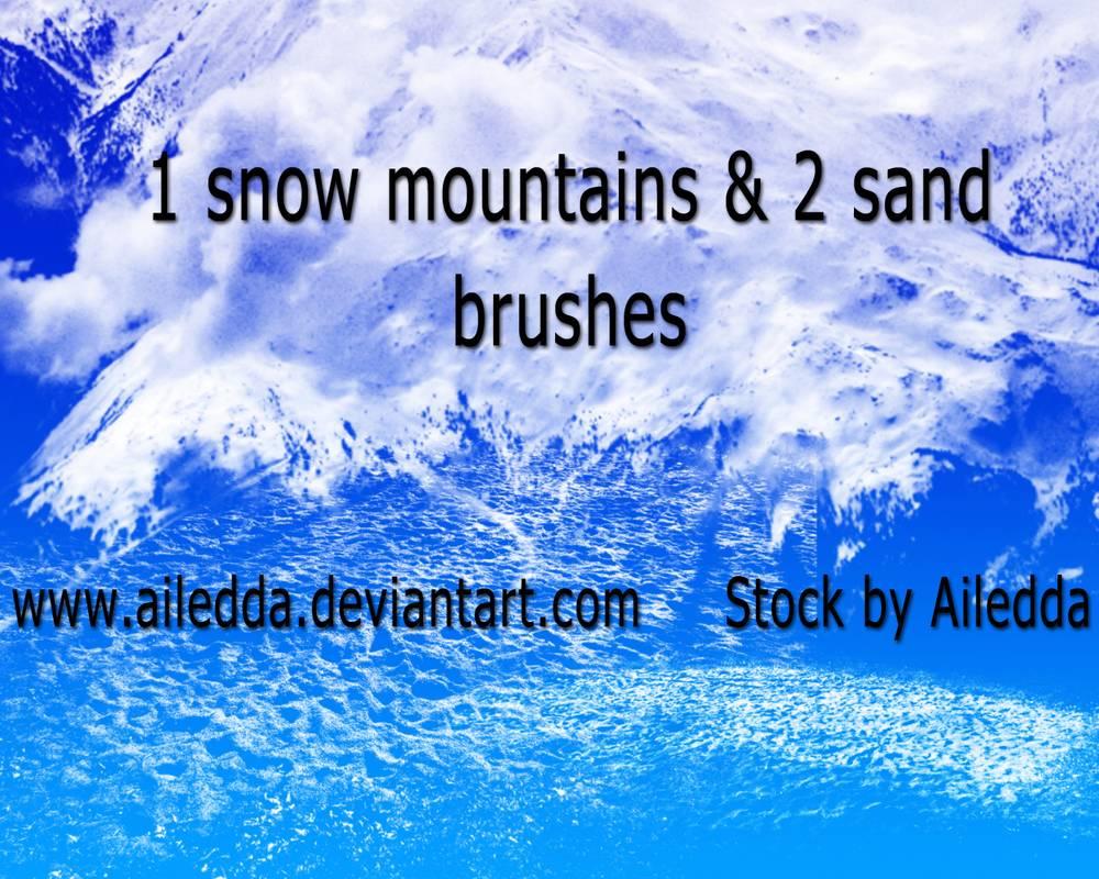 雪纹理、沙子纹理、沙地材质PS笔刷素材免费下载