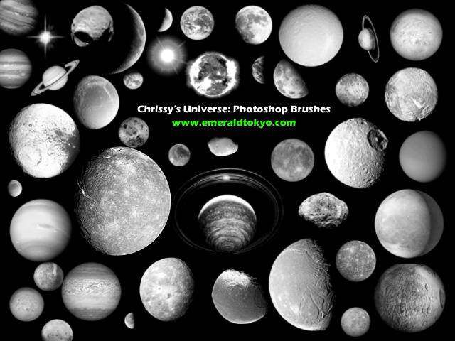 月球、星球、地球、恒星PS笔刷下载