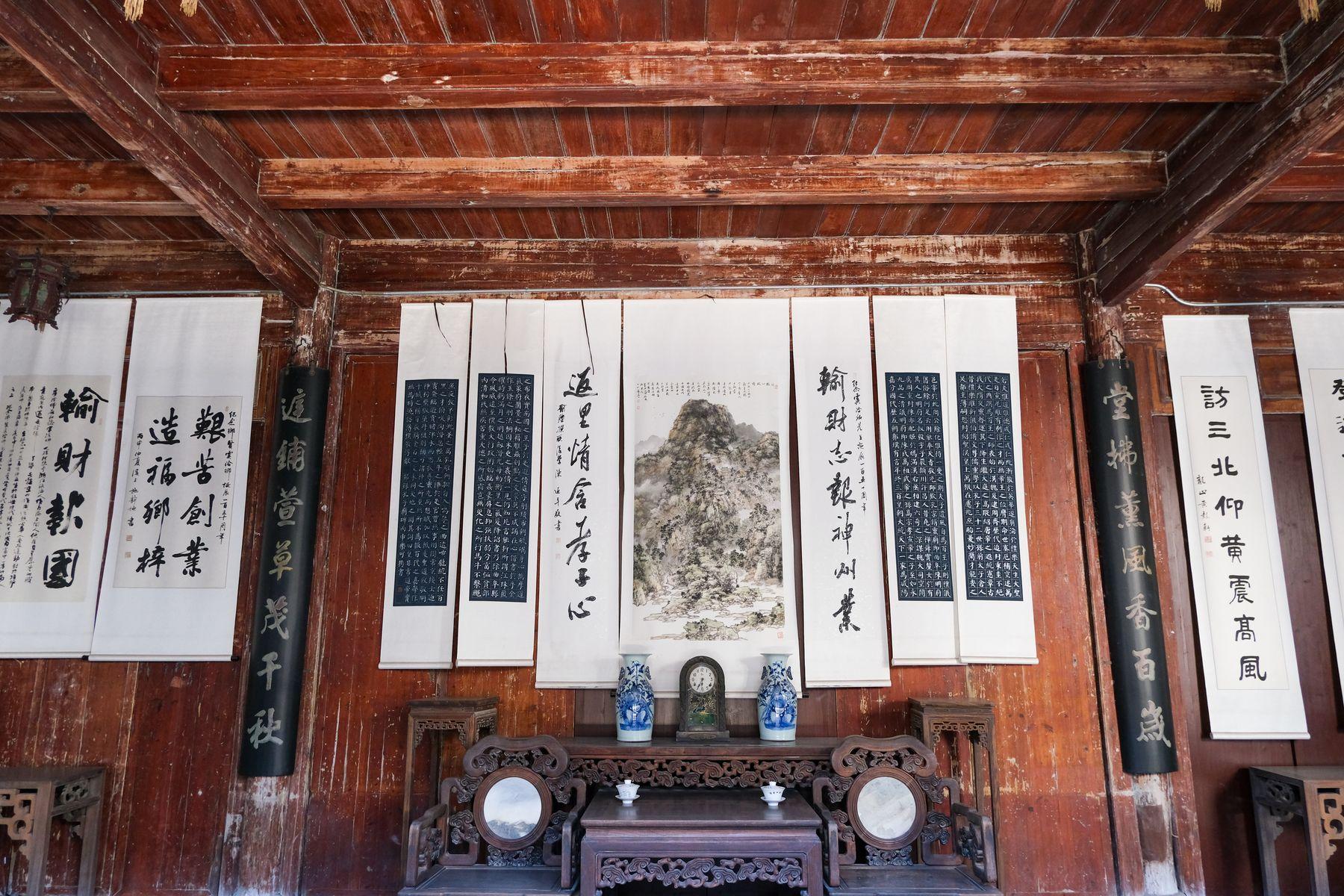 中国晚清传统会客厅布局照片素材(免费商用照片下载,6240X4160 像素)