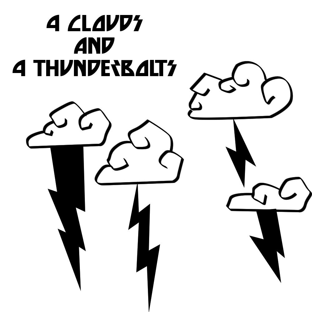 卡通闪电云朵图案PS笔刷素材