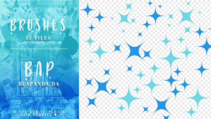 15种星星图案、星光背景装饰PS美图笔刷