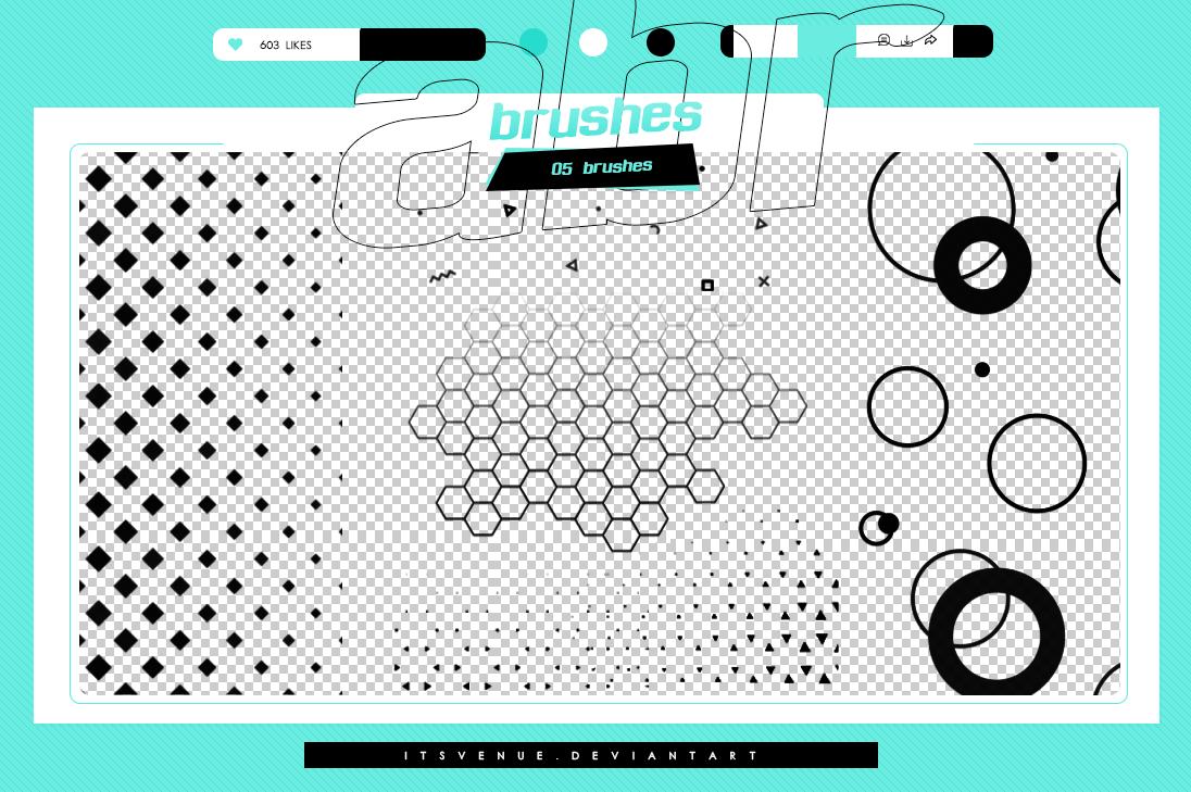 六边形蜂窝、渐变复验式点阵纹理PS笔刷素材
