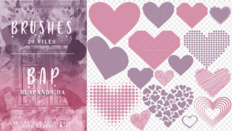 20种爱心、非主流心形图案PS恋爱笔刷