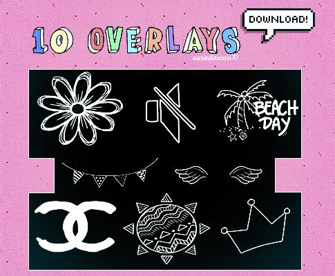 10种童趣涂鸦照片贴纸素材PS笔刷(PNG图片格式)