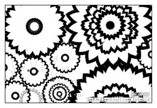 太阳花、齿轮花朵纹理PS笔刷素材(JPG格式)