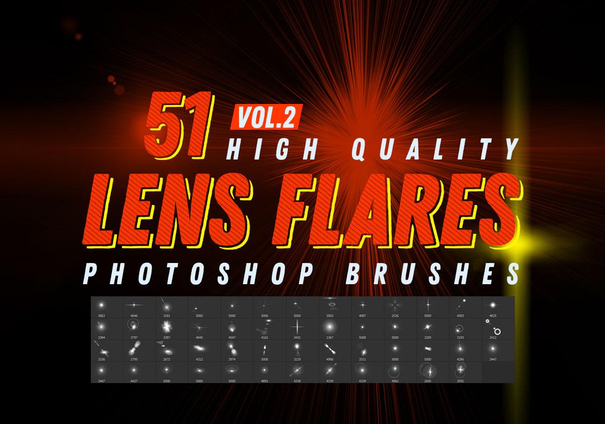 51种光影特效、闪光、亮光点、光斑、高光、光球等效果PS笔刷下载