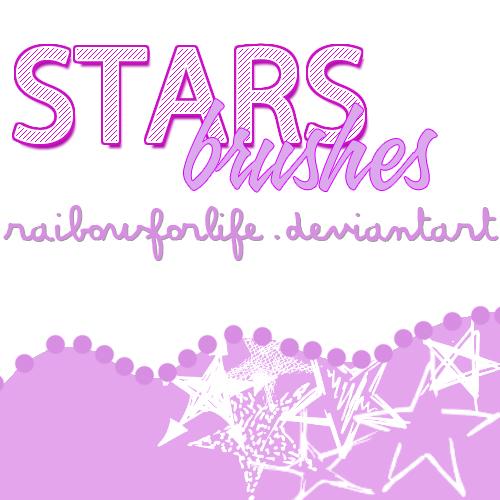 手绘涂鸦星星、五角星图案PS笔刷下载