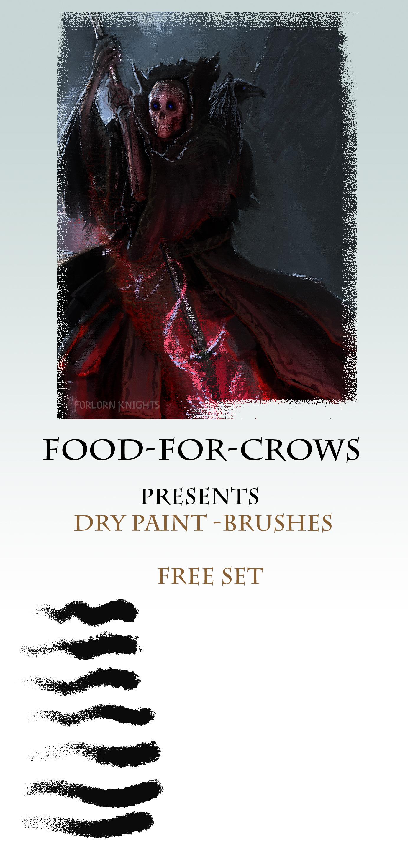 干燥纹理、干油漆、颜料、PS粗糙画笔