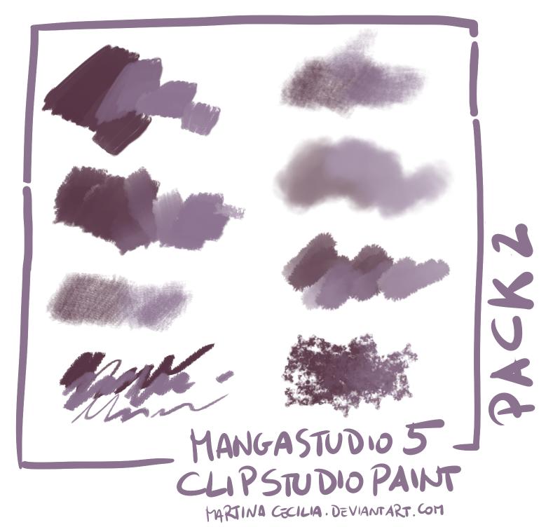 CG插画专用笔刷 clip studio paint 绘画软件笔刷素材(非PS笔刷,CSP画笔)