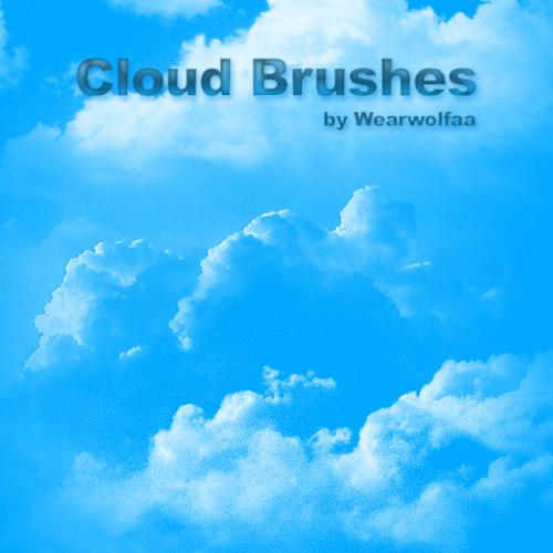 高云层、云朵纹理PS笔刷素材