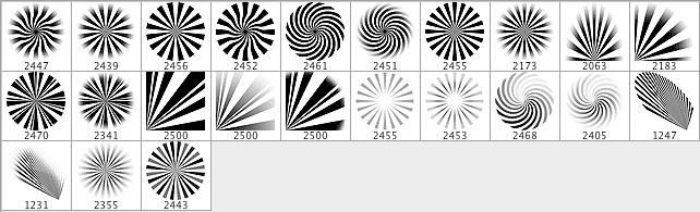 光芒四射背景效果、放射状纹理PS笔刷素材
