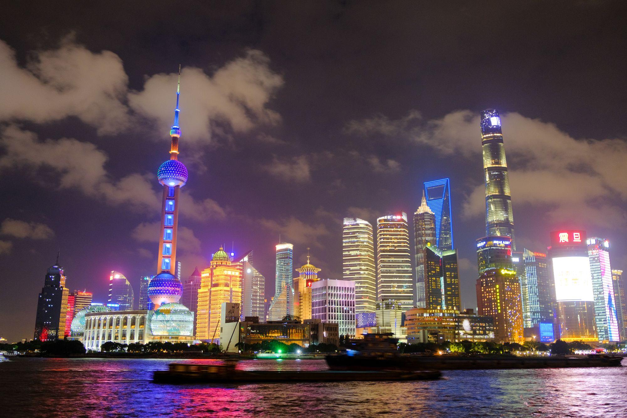 璀璨东方明珠夜景照片 - 上海滩免费正版图片下载
