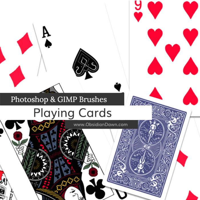 扑克牌图形PS笔刷素材