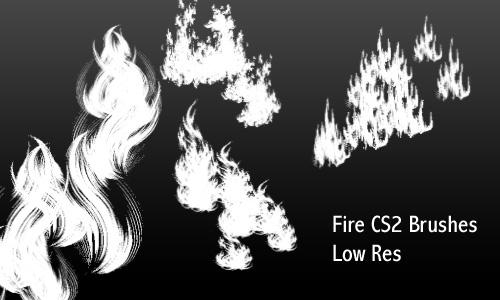 火焰、火苗纹理PS笔刷
