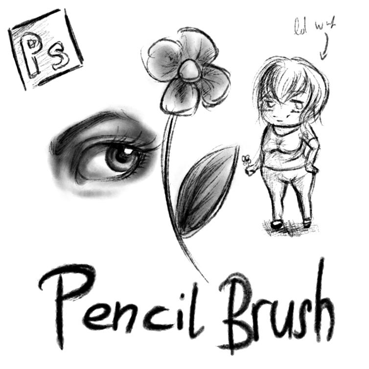 铅笔、素描笔触PS笔刷