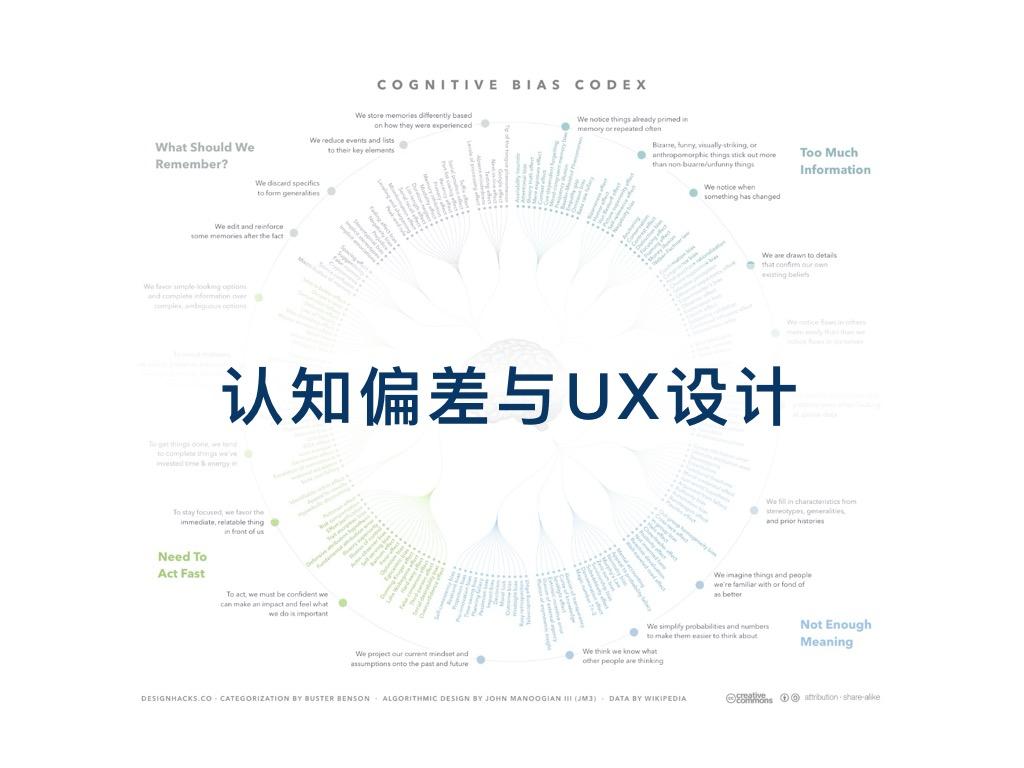 认知偏差与UX设计(设计过程中如何消除偏差)