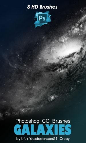 8种高清星云、星域、银河系背景PS笔刷