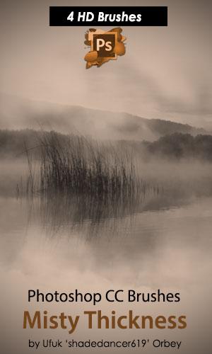 4种高清迷雾、雾霭、晨雾、雾霾、大雾背景纹理PS笔刷
