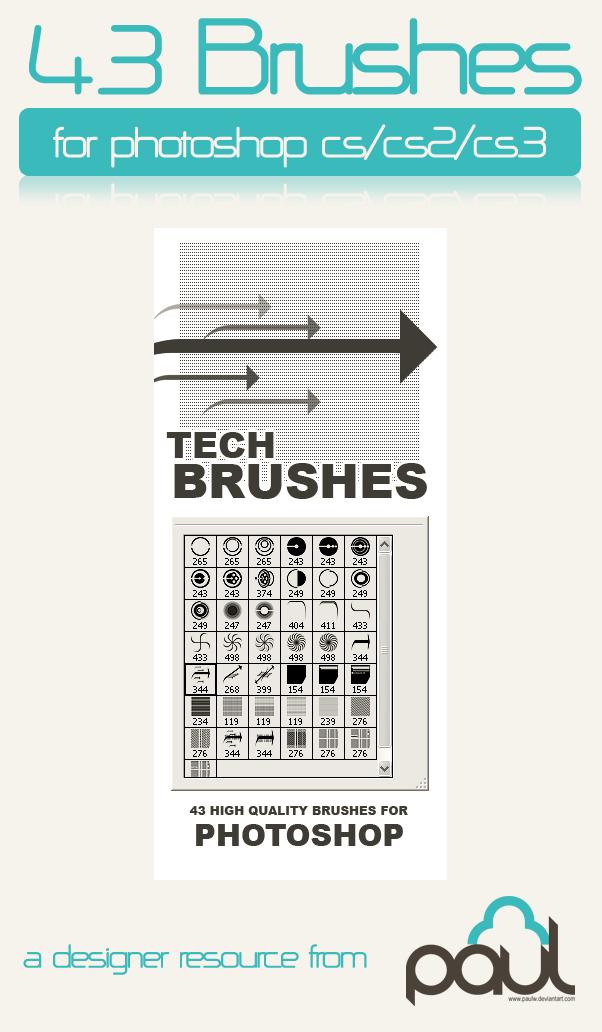 43种高科技元素装饰ps笔刷素材