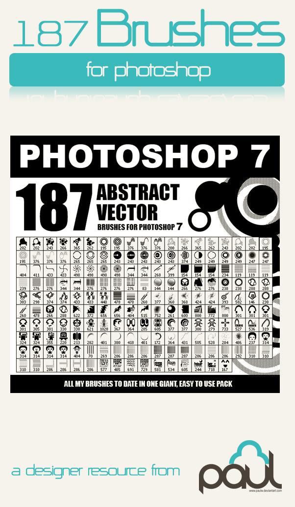 187种非主流矢量装饰元素PS笔刷素材