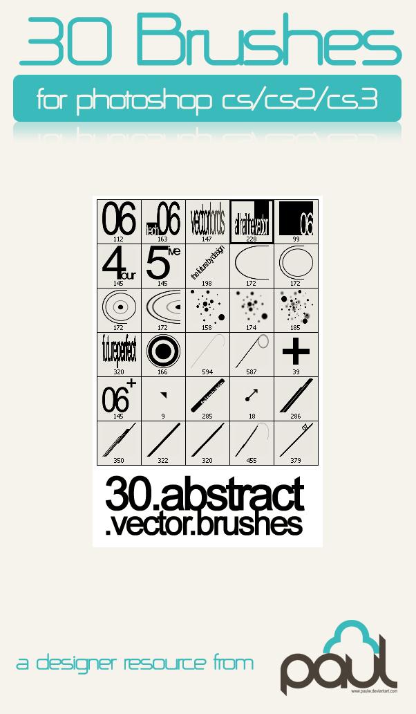 30种背景元素装饰图案PS笔刷
