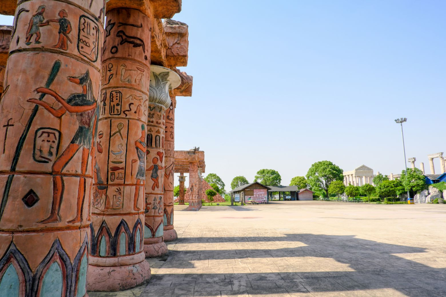 古埃及柱子背景装饰图像 - 免费可商用图像