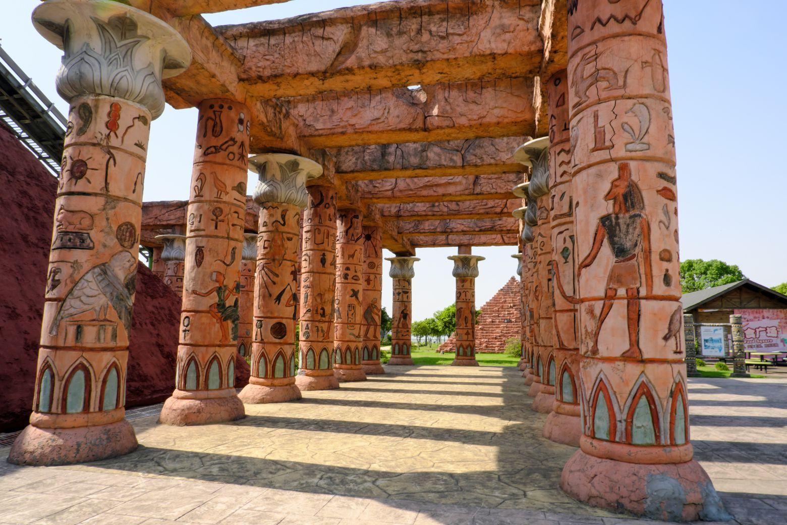 古埃及石柱子走廊 - 免费商用照片